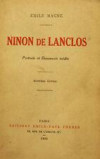 SALONS PARISIENS/NINON DE LANCLOS/E.MAGNE/EMILE PAUL/1925/