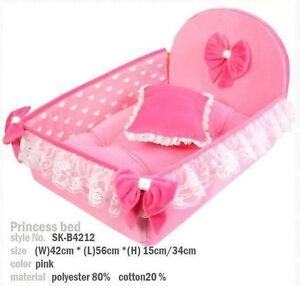 NEW Cute Princess Pet Dog Cat Soft Bed House Mat Coushion +pillow