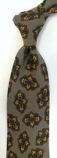 Brown Green HUGO BOSS Wool Tie