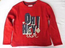 Mädchen-Sweatshirt - in weicher Baumwolle-Fleece-Qualität - Größe 134 / 140