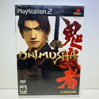 ONIMUSHA WARLORDS (PlayStation 2, 2002) PS2 No Manual - Tested - Fast Shipping