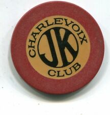 New listing Charlevoix Jk Club Charlevoix Mi Illegal Gambling Chip Purple Gang 1900'S