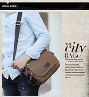 Navor Men's Small Vintage Multipurpose Canvas Shoulder Bag Messenger Bag Purse