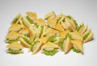 20 Dollhouse Miniature Tuna Sandwiches * Doll Mini Food Bakery Bread WHOLESALE