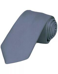 """Dusty Blue Premium Slim Necktie, 2.5"""" Width, Brand New"""