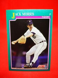 Score 1991 carte card Baseball MLB US NM+/M Detroit Tigers #114 Jack Morris