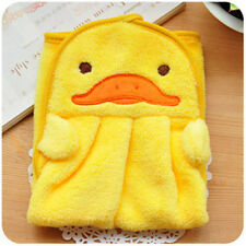 Cute Animal Hand Towel Cartoon Hanging Baby Face Kids Washcloth Bath Water Dry Yellow Duck