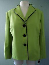 NEW NWT JONES STUDIO Womens Plus sz 16W Green Blazer Jacket