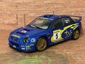 1:18 Autoart Subaru Impreza Wrc 2001 Rally Monte Carlo Burns/reid #5 bug Eye Sti
