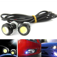 2x DC 12V 15W Eagle Eye White LED Daytime Running DRL Backup Light Auto Car Lamp