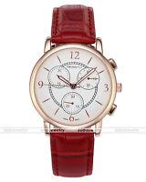 Unisex Quarz Uhr Armbanduhr Analog 30m Wasserdicht echtes Leder Armband Ror Neu