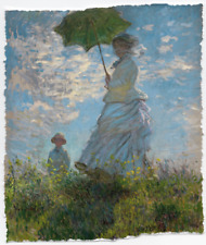 CLAUDE MONET WOMAN WITH A PARASOL MADAME SON LIMITED EDITION ART PRINT 24x29
