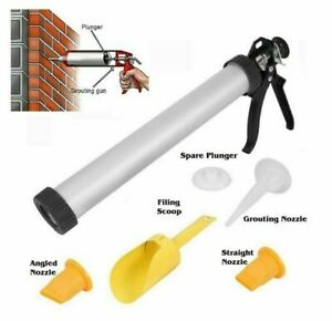 MORTAR GUN & GROUNTING PROFESSIONAL SET FOR BRICK POINTING & TILE CEMENT HILKA