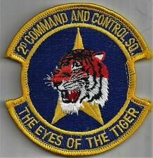 USAF 2ND COMMAND AND CONTROL SQ PATCH -  'THE EYES OF THE TIGER'        COLOR
