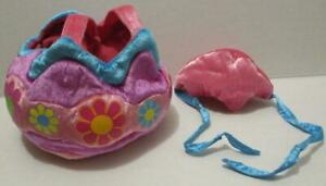 BUILD A BEAR PINK FLOWER EASTER EGG 2 PIECE OUTFIT COSTUME MATCHING HAT