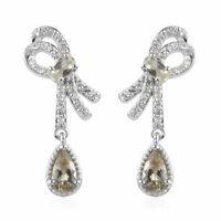 925 Sterling Silver Turkizite Dangle Drop Earrings Mothers Day Gifts Ct 2.2