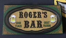 Rogers Bar Sign Small Vintage Wood Decor Wall Hangable BRAND NEW!