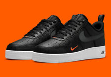 Nike Air Force 1 LV8 Shoes Black Smoke Grey Total Orange DJ6887-001 Men's NEW