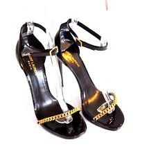 J-1793988 New Saint Laurent Vitello Vernice Heel Sandal Shoes US 10.5 Mark 40.5