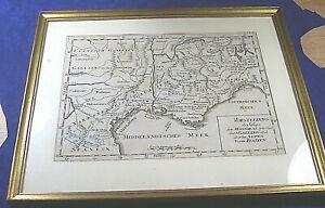 Alte Weltkarte  Hannibals Weg über die Alpen von ca 1760