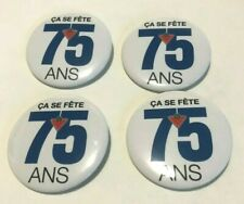 New listing Canadian Tire - Financial Service 75Th Birthday Pin Button ( French Version )