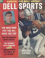 1965 Dell Sports Magazine football Johnny Unitas Baltimore Colts Joe Namath FrSt