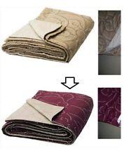 """Ikea NATVIDE Bedspread Quilt Queen / King  103 x 110 """" Dark Red NEW 202.422.01"""