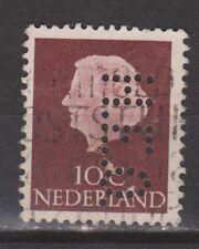 NVPH Nederland Netherlands 617 used PERFIN H.E.O. 1953 Pays Bas