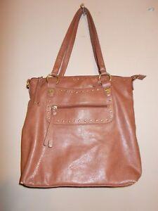 Marc Fisher Shoulder Handbag Caramel Brown Color 2-straps
