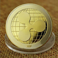 Gold Plated Ripple Coin XRP CRYPTO Commemorative Coin Collectors Ripple XRP Coin