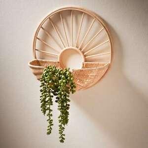 90% Rattan, 10% Metal Rattan Decorative Shelf Use it For Storage of Essentials.