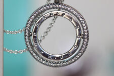 AUTHENTIC NEW SPINNING HEARTS OF PANDORA NECKLACE 397410-60 $125 TAG BOX
