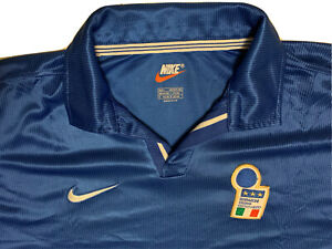 Rare Maillot Nike World Cup 1998 Jersey Maglia Italy National Team FIGC Bleu L