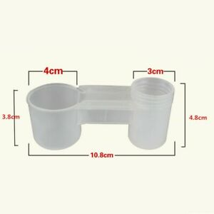 10xDouble Spouts Water Drinker Cup Feeder Drinking Bowl For Bird Pigeons Parrot