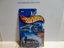 2003 Hot Wheels #40 Blue Out A Line w/PR5 Spoke Wheels