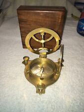 Ship Compass and Adjuster In Wood Box