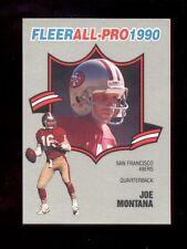 1990 Fleer JOE MONTANA San Francisco 49ers All Pro Insert Card