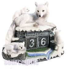 new mothers watch white wolf calendar figure statue nemesis now gift B3266