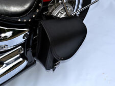 B2) Leather Swingarm Single Side Pannier Saddle Bag Harley-Davidson Softail