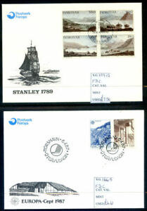 A run of 19 Faroe Islands first day covers from 1985 - 1994 fine(2021/01/015#04)