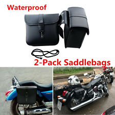 Mini 2x Motorcycle ATV PU Leather Saddlebags Side Storage Tool Pouch Waterproof