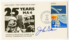 NASA Astronaut John Glenn Hand Signed 25th anniversary Mercury Friendship 7