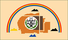 3x5 inch Navajo Nation Flag Sticker -tribe native american indian logo people of