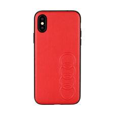 Audi TT serie cubierta protectora iPhone XS/iPhone x back case cover funda rojo