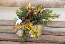 Fall Thanksgiving Turkey Table Top Candle Arrangement Santa's Stocking Works