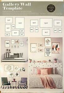 Gallery Wall Template for Hanging Picture Frame Collage at Home, School, Work