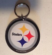 PITTSBURGH STEELERS LOGO PREMIUM ACRYLIC KEY RING CHAIN NFL LICENSED STOCKING