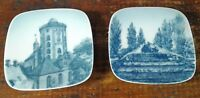Set of 2 Collector Plates Denmark Miniature B & G Bing Grondahl Gefion Spring