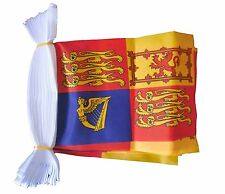 ROYAL STANDARD 3 METRE BUNTING 10 FLAGS flag 3M QUEEN ELIZABETH ROYALTY MONARCHY