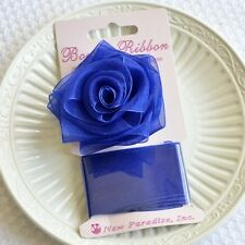 Blue Rose Bow and Ribbon Easy Clip On Present Gift Bow Christmas Gift Wrap